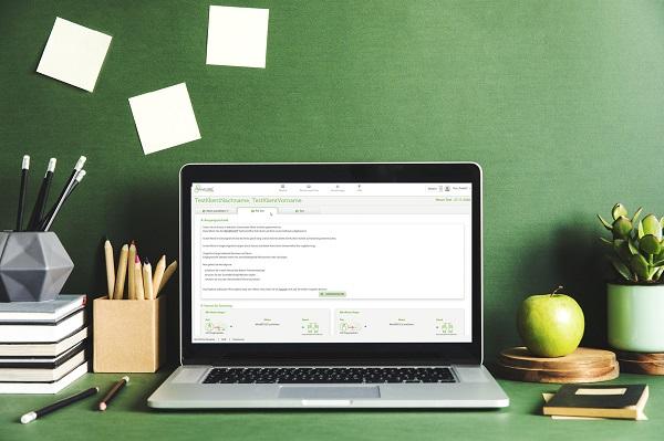 Laptop mit Bild
